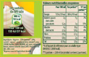 PACK soupe - TVN liste ingredient et AR