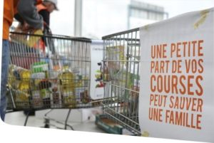 Banque alimentaire - affiche chariot - Knorr