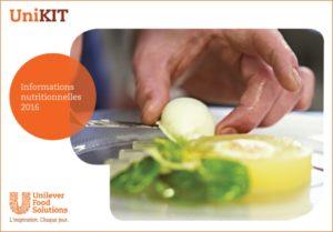 COUV - Food Solutions Valeurs Nutritionnelles 2016